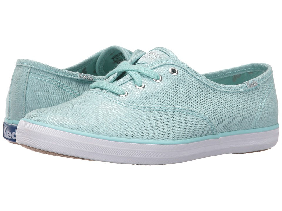 Keds - Taylor Swift Champion Metallic Canvas (Light Blue) Women