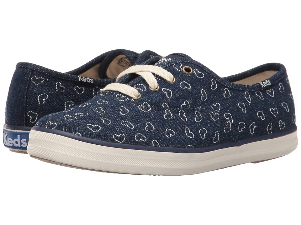 Keds - Taylor Swift Champion Denim Heart Embroidery (Indigo) Women's Shoes