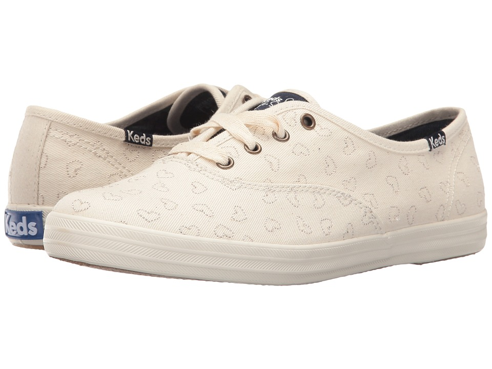 Keds - Taylor Swift Champion Denim Heart Embroidery (Cream) Women's Shoes