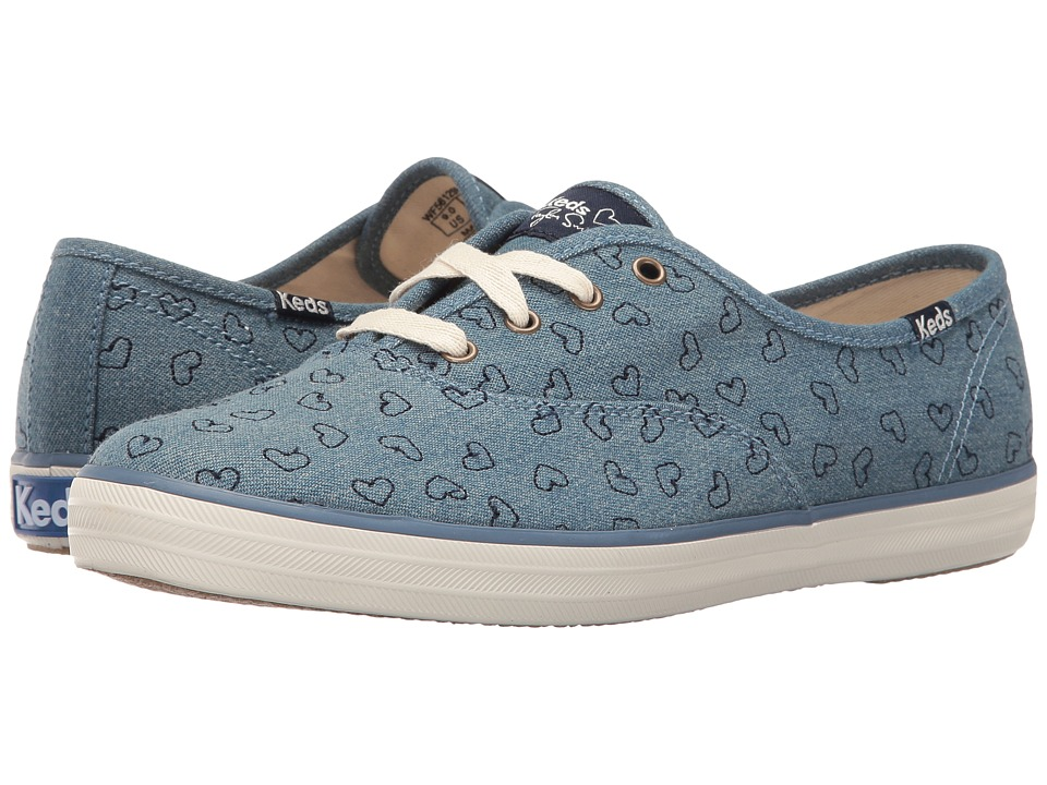 Keds - Taylor Swift Champion Denim Heart Embroidery (Light Blue) Women's Shoes