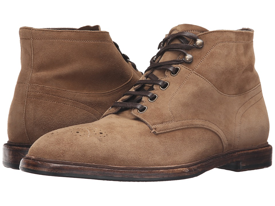 Dolce & Gabbana - A60038AC639 (Light Brown) Men's Lace-up Boots