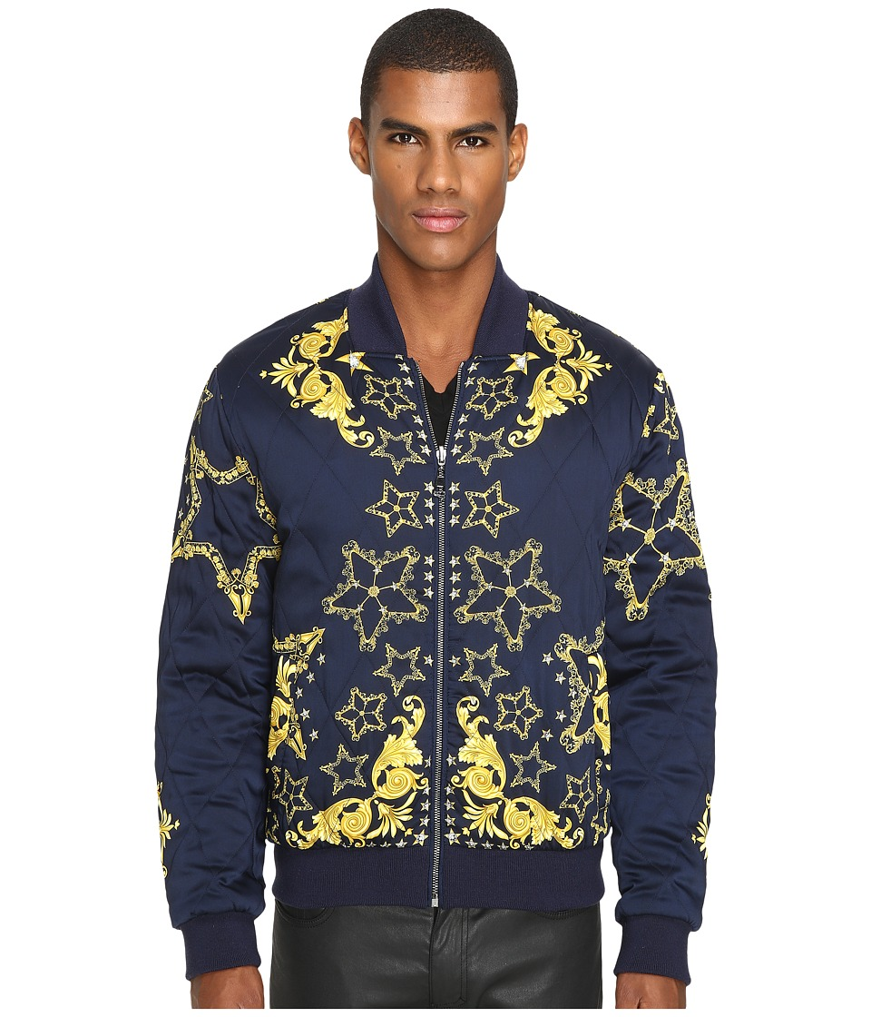 Versace Collection - V500393 (Blue Print) Men's Coat