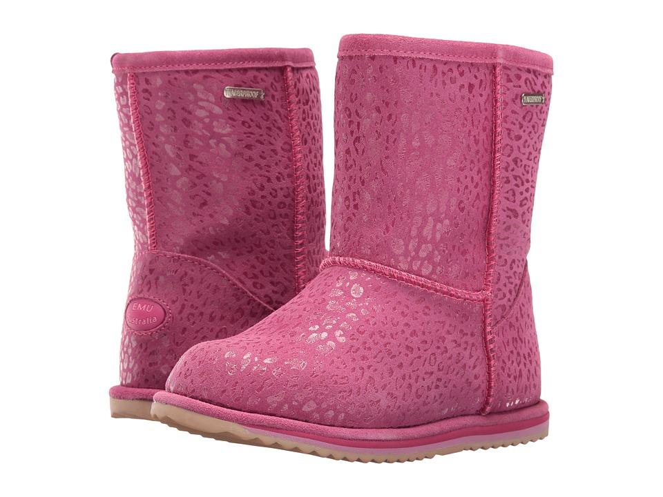 EMU Australia Kids - Leopard Brumby (Toddler/Little Kid/Big Kid) (Hot Pink) Girls Shoes