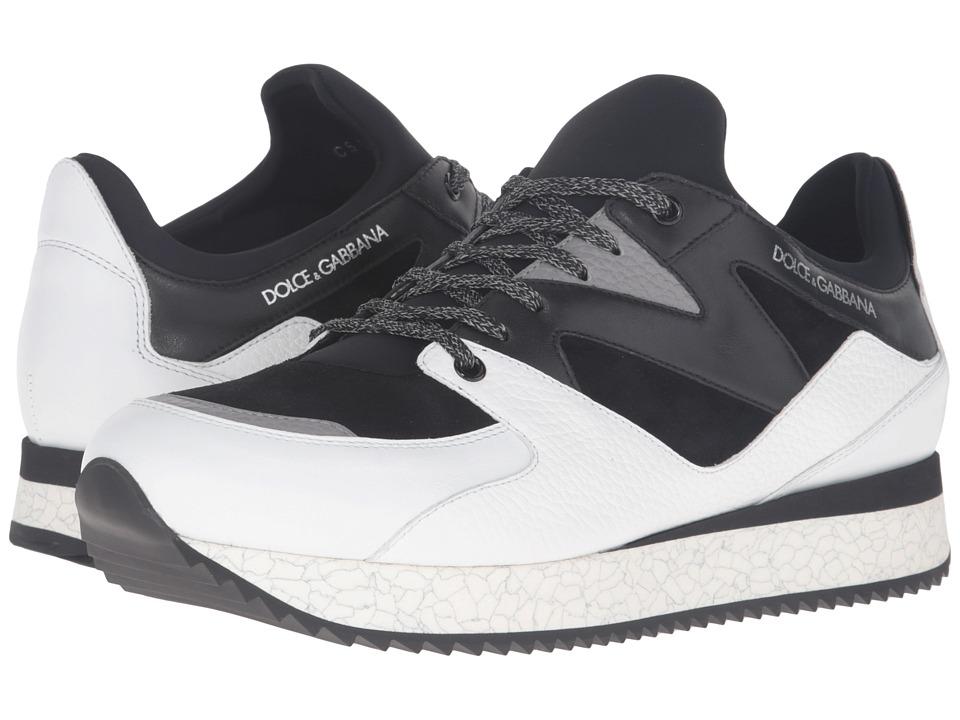 Dolce & Gabbana - CS1424AD444 (Black/White) Men's Lace up casual Shoes