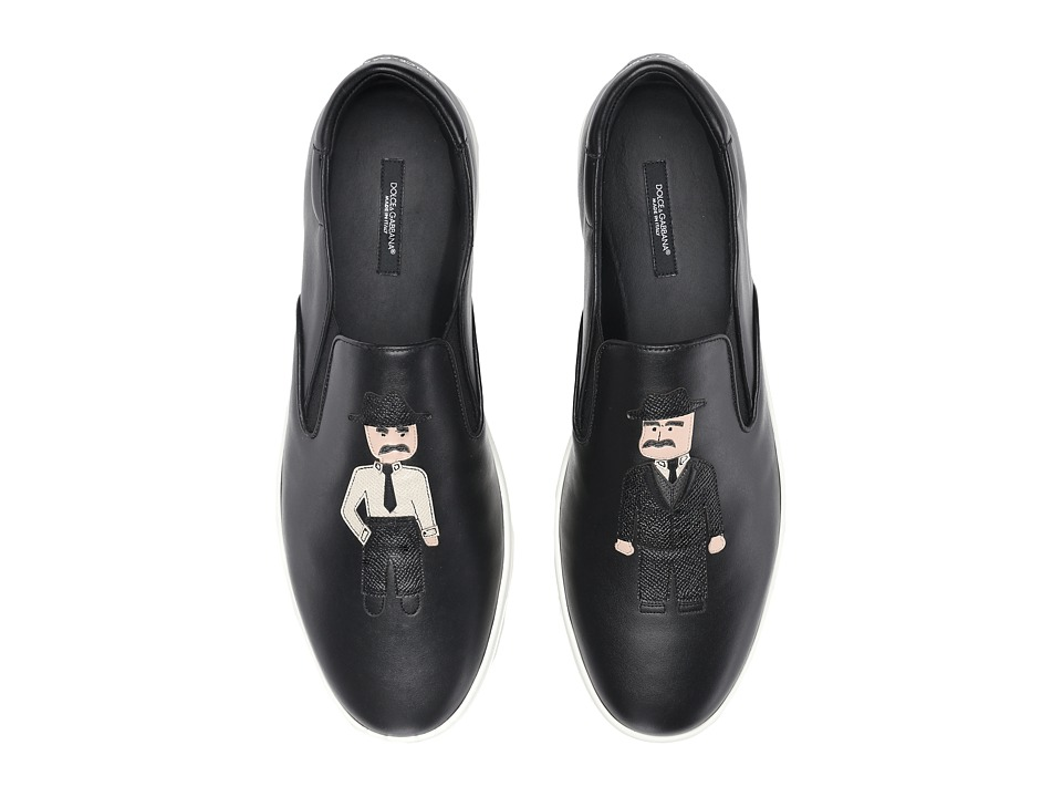 Dolce & Gabbana - CS1365AD873 (Black/White) Men's Slip on Shoes