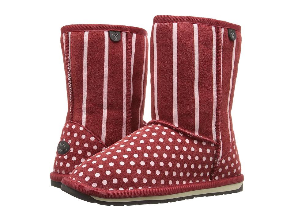 EMU Australia Kids - Dotty (Toddler/Little Kid/Big Kid) (Red) Girls Shoes