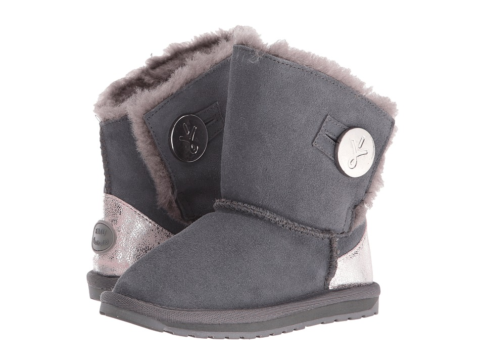 EMU Australia Kids - Denman (Toddler/Little Kid/Big Kid) (Charcoal) Girls Shoes