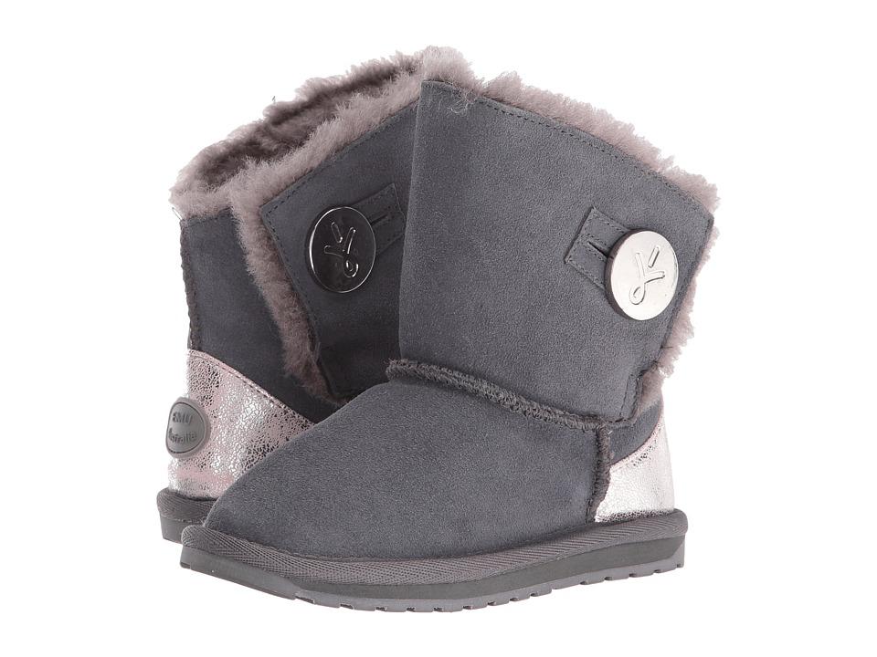 EMU Australia Kids - Denman (Toddler/Little Kid/Big Kid) (Charcoal) Girls Shoes