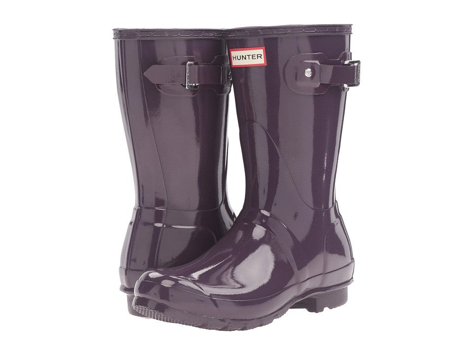 Hunter - Original Short Gloss (Purple Urchin) Women's Rain Boots