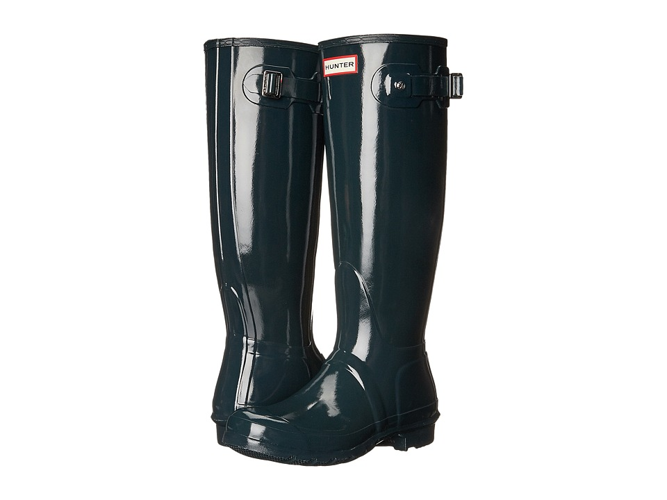 Hunter - Original Tall Gloss Rain Boots (Ocean) Women's Shoes