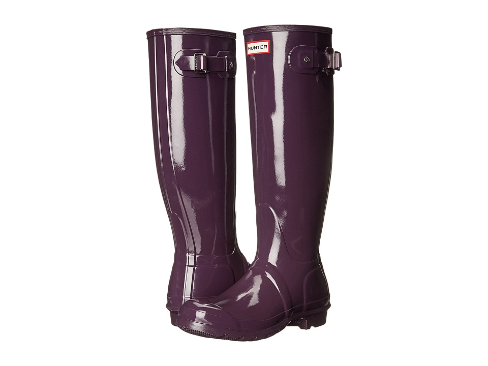 Hunter - Original Tall Gloss (Purple Urchin) Women's Shoes
