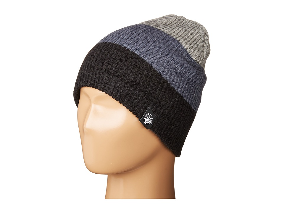 Neff - Trio Beanie (Youth) (Black/Grey/Grey) Beanies