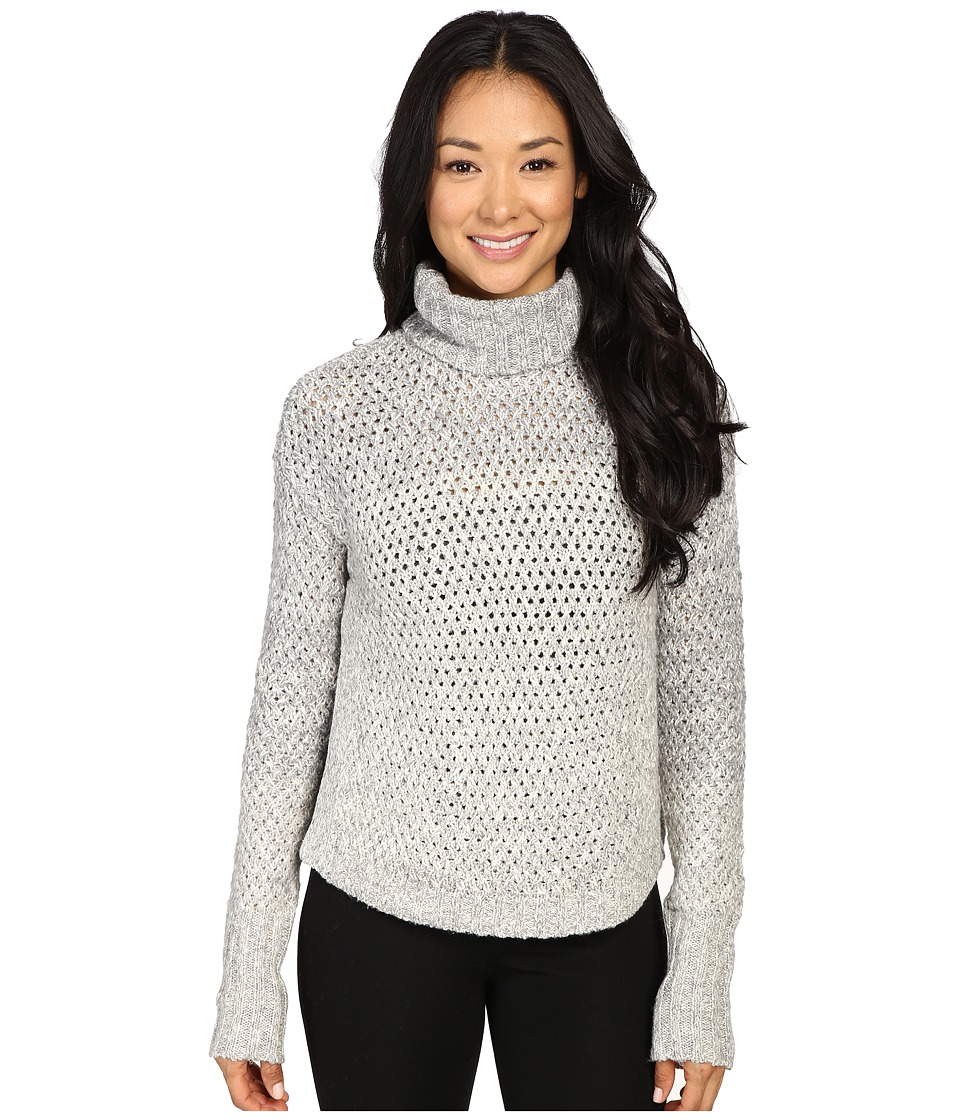 Calvin Klein Jeans - 3GG Chunky Cozy Turtleneck (Soft Grey Heather) Women's Sweater