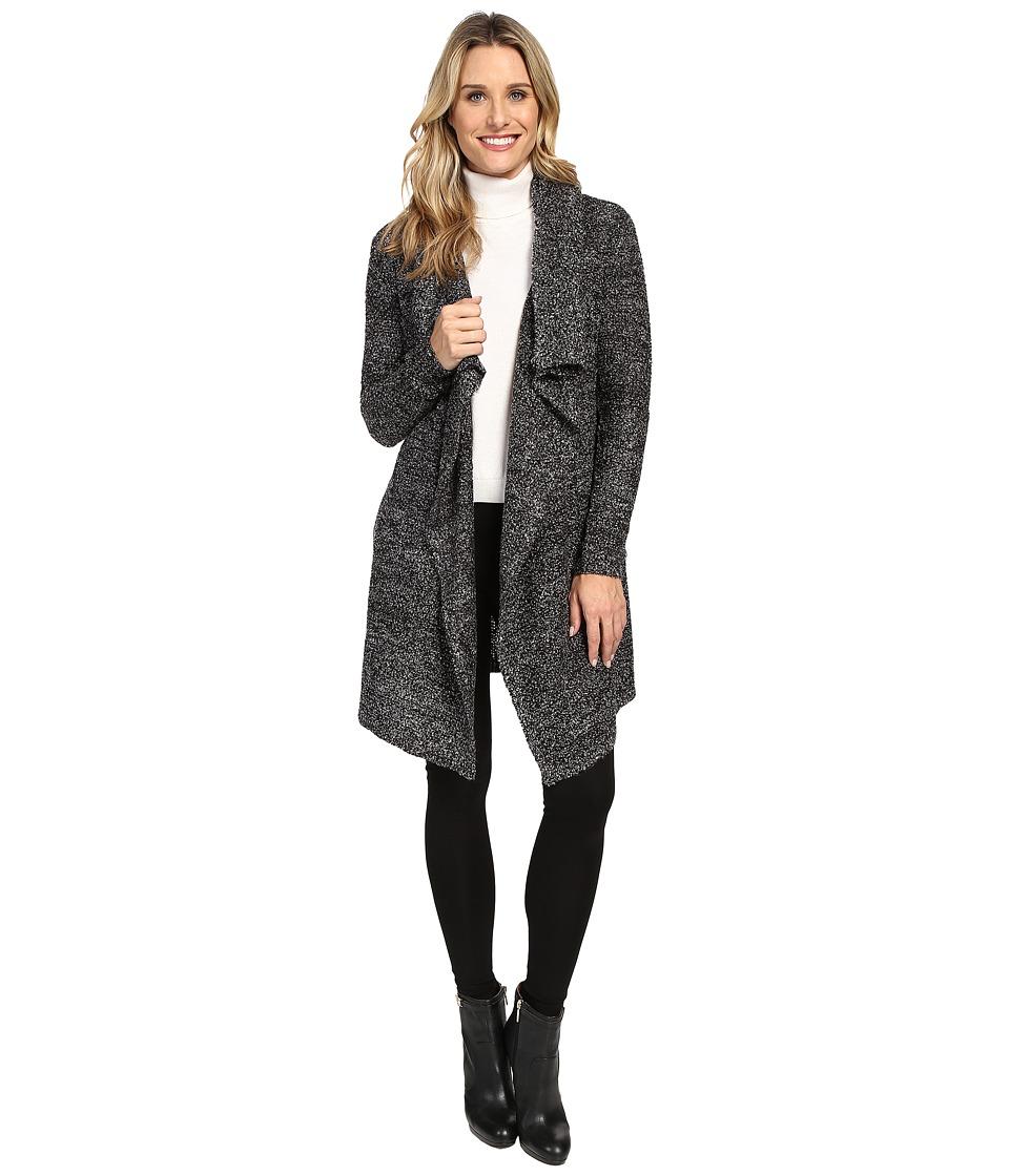 Calvin Klein Jeans - Boucle Cardigan (Black/White Combo) Women's Sweater