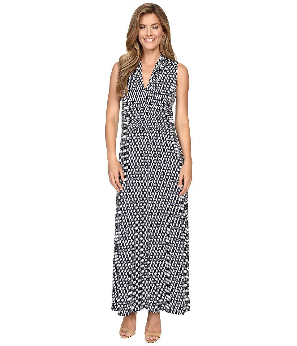 Vince Camuto Diamond Phrase Halter Maxi Dress (Evening Navy) Women
