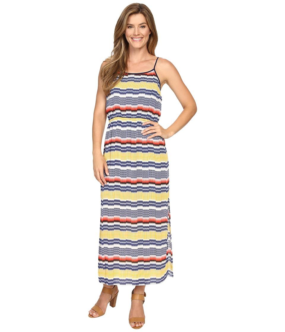 Vince Camuto Elastic Waist Jagged Stripe Maxi Dress (Gold Charm) Women