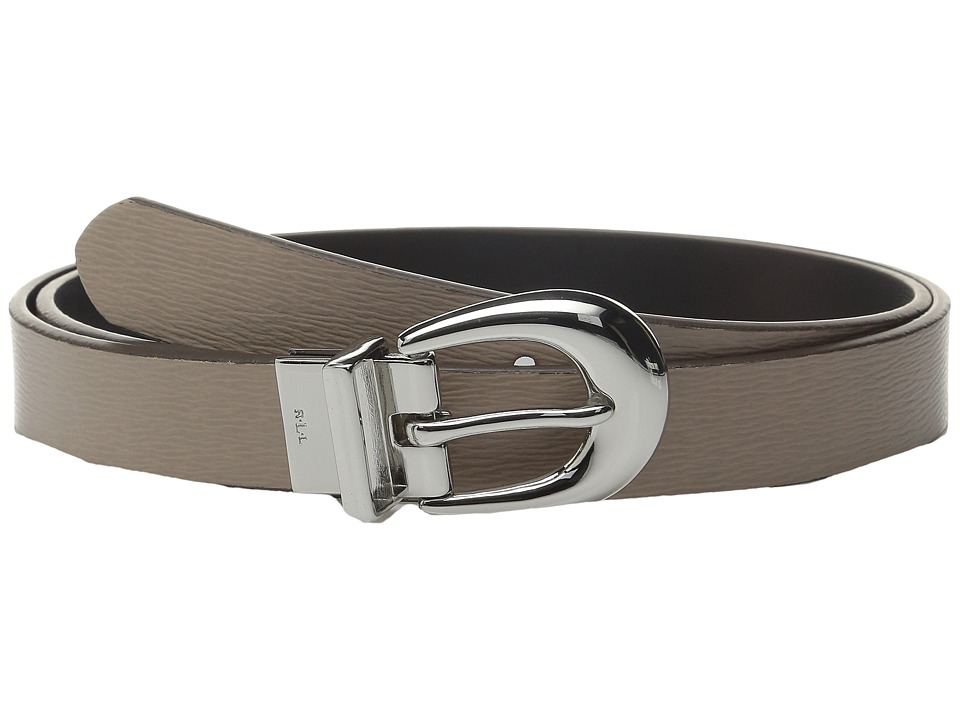 LAUREN Ralph Lauren - 1 Saffiano to Smooth Reversible Belt (Porcini/Black) Women's Belts