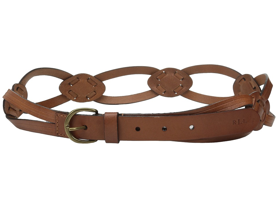 LAUREN Ralph Lauren - Classics 1 Skinny Braid Belt w/ C-Buckle (Lauren Tan) Women's Belts