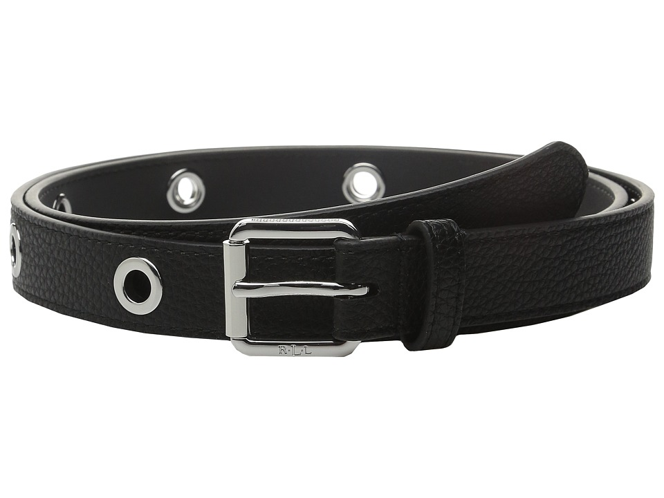 LAUREN Ralph Lauren - Classics 1 Roller Buckle On Grommet Strap (Black) Women's Belts