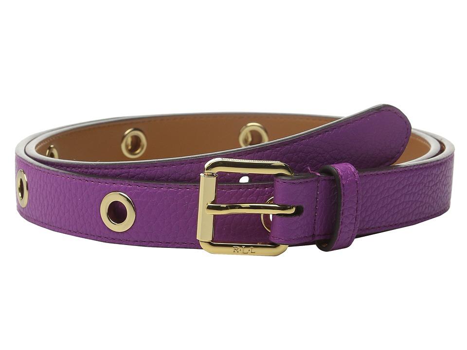 LAUREN Ralph Lauren - Classics 1 Roller Buckle On Grommet Strap (Bright Orchid) Women's Belts