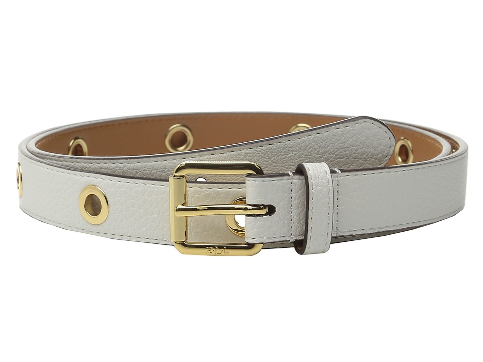 LAUREN Ralph Lauren - Classics 1 Roller Buckle On Grommet Strap (Vanilla) Women's Belts