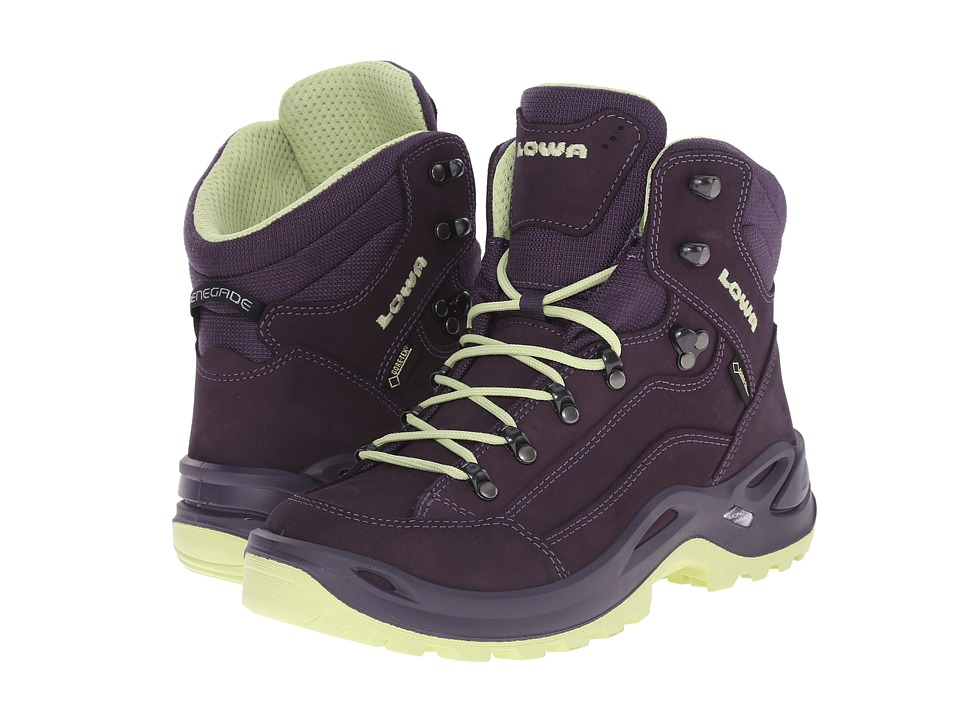Lowa - Renegade GTX Mid (Prune/Mint) Women's Shoes