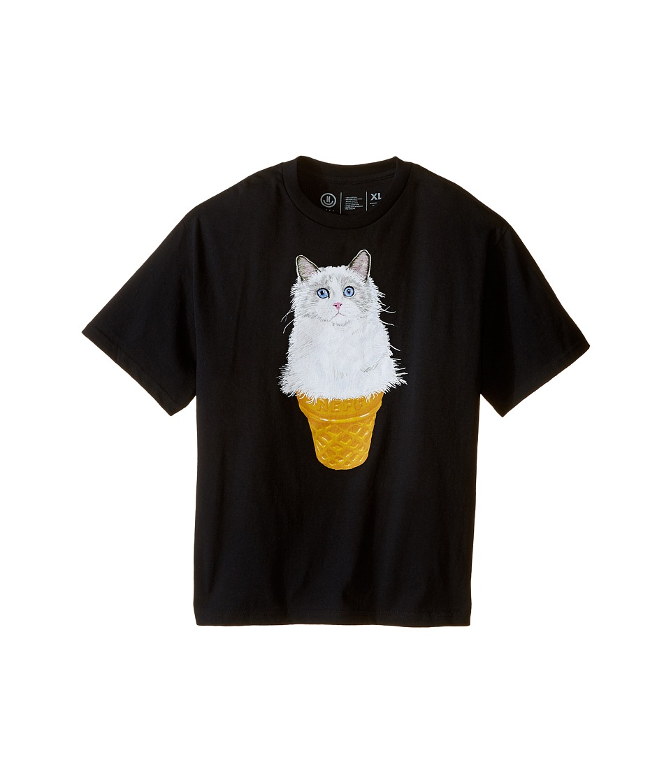 Neff Kids - Kitty Cone Tee (Big Kids) (Black) Boy's T Shirt