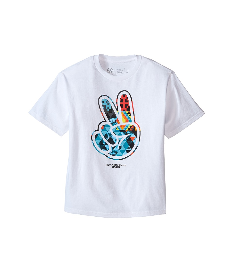 Neff Kids - Youth Paz Digi Tribe Tee (Big Kids) (White) Boy's T Shirt