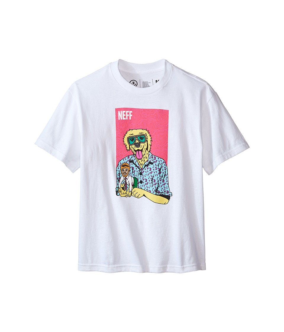 Neff Kids - The Weird Tee (Big Kids) (White) Boy's T Shirt