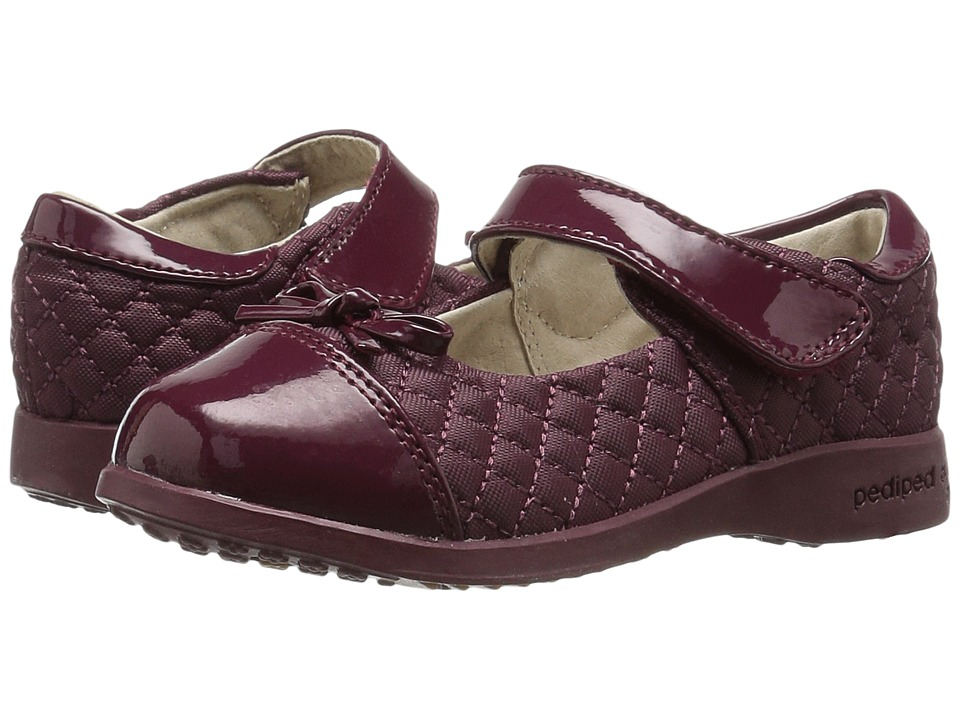 pediped - Naomi Flex (Toddler/Little Kid/Big Kid) (Burgundy) Girl's Shoes