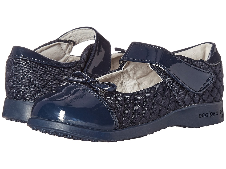 pediped - Naomi Flex (Toddler/Little Kid/Big Kid) (Navy 1) Girl's Shoes