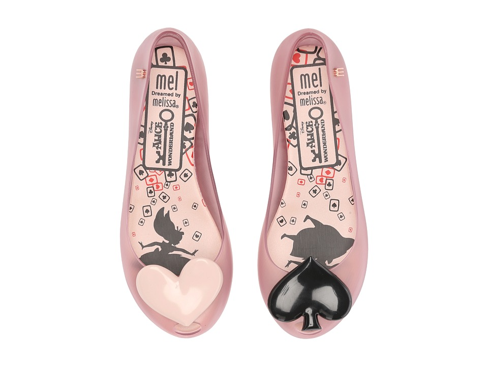 Mini Melissa - Ultragirl + Alice Wonderland (Little Kid) (Light Pink) Girl's Shoes