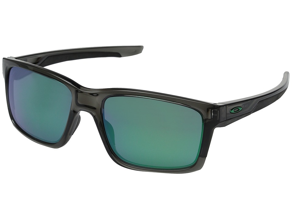 Oakley - Mainlink (Grey Smoke/Jade Iridium) Plastic Frame Fashion Sunglasses