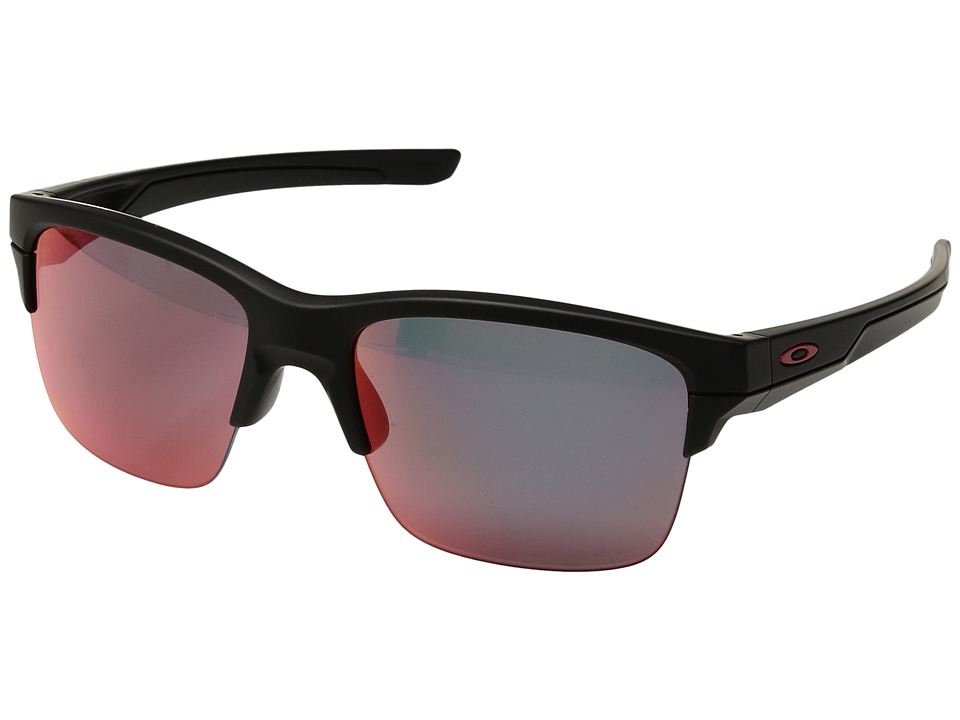 Oakley - Thinlink (Matte Black/Torch Iridium Polarized) Plastic Frame Fashion Sunglasses