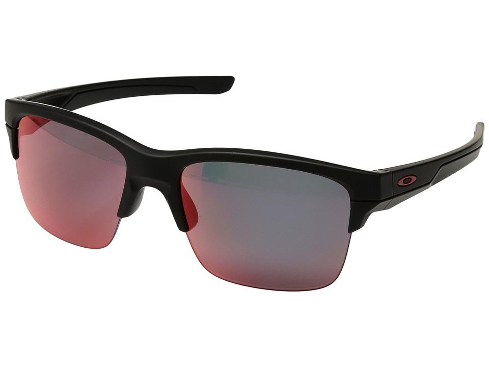 Oakley - Thinlink (Matte Black/Torch Iridium Polarized) Plastic Frame Fashion Sunglasses