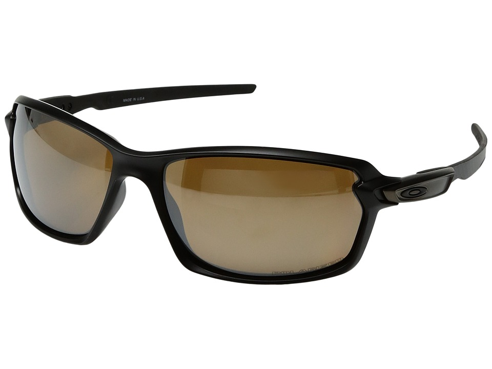 Oakley - Carbon Shift (Matte Black/Tungsten Iridium Polarized) Plastic Frame Fashion Sunglasses