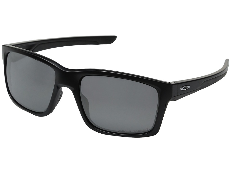 Oakley - Mainlink (Matte Black/Black Iridium Polarized) Plastic Frame Fashion Sunglasses