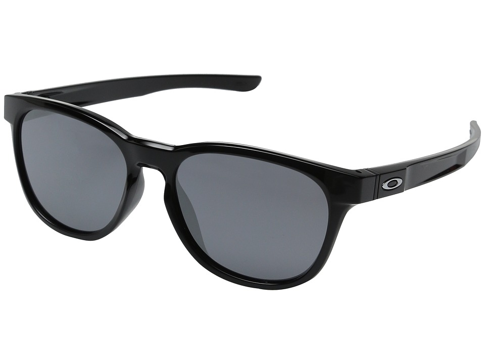 Oakley - Stringer (Polished Black/Black Iridium) Plastic Frame Fashion Sunglasses