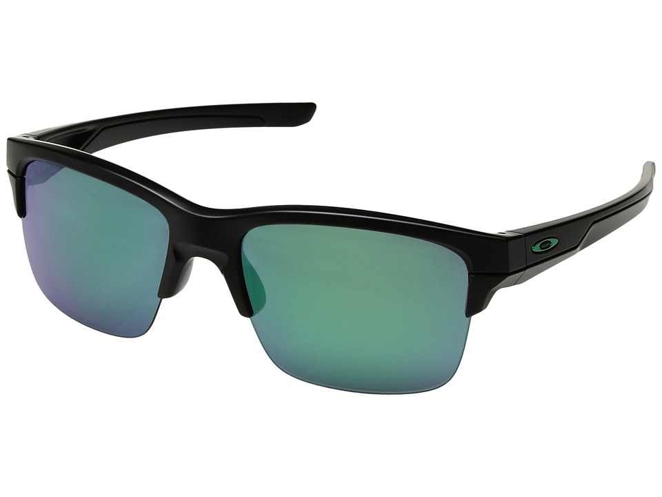 Oakley - Thinlink (Matte Black/Jade Iridium) Plastic Frame Fashion Sunglasses