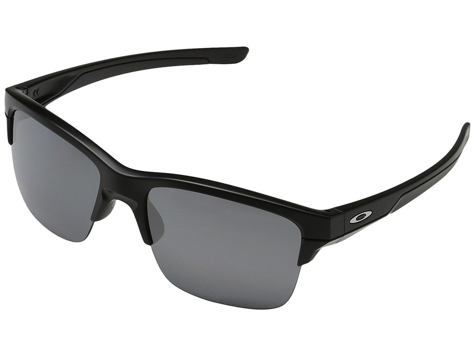 Oakley - Thinlink (Matte Black/Black Iridium Polarized) Plastic Frame Fashion Sunglasses