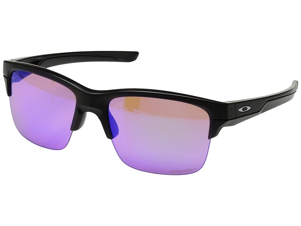 Oakley - Thinlink (Matte Black/Prizm Golf) Plastic Frame Fashion Sunglasses