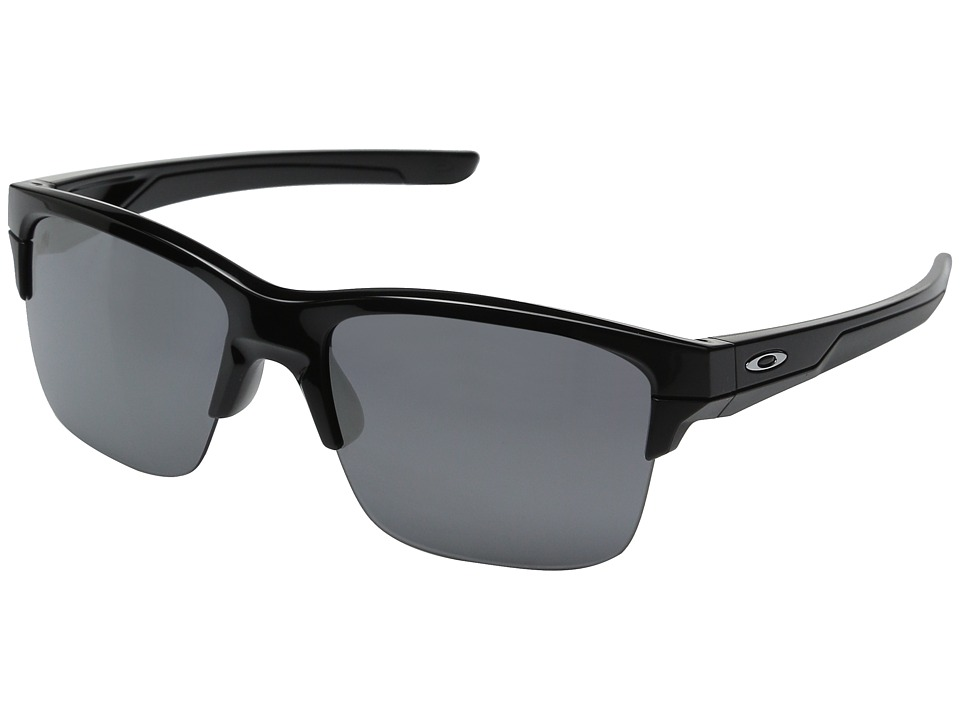 Oakley - Thinlink (Polished Black/Black Iridium) Plastic Frame Fashion Sunglasses
