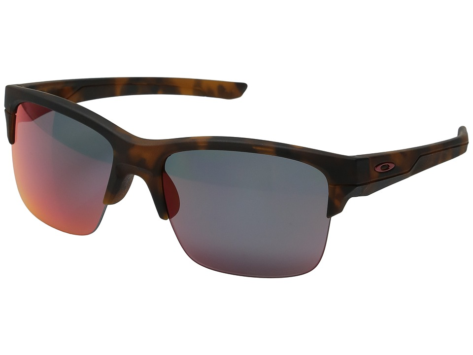 Oakley - (A) Thinlink (Matte Brown Tortoise/Torch Iridium Polar) Plastic Frame Fashion Sunglasses