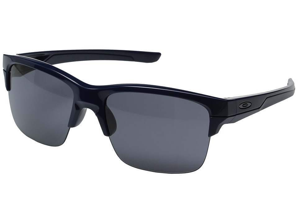 Oakley - (A) Thinlink (Polished Navy/Grey) Plastic Frame Fashion Sunglasses