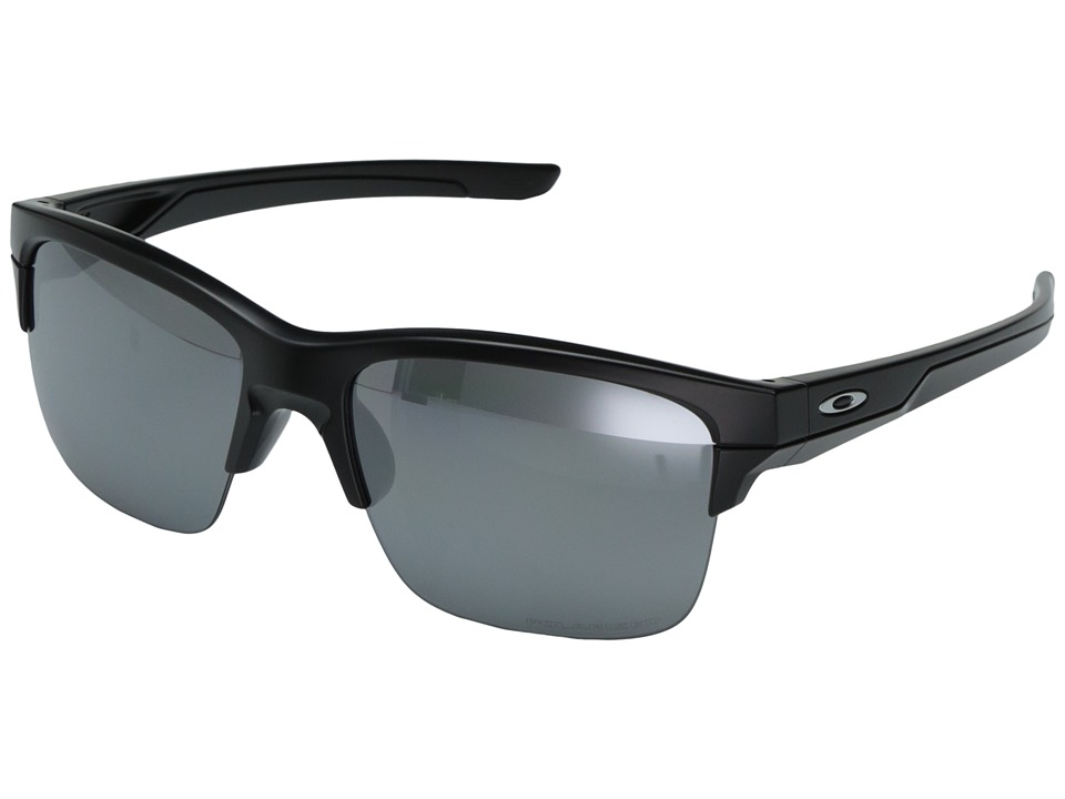 Oakley - (A) Thinlink (Matte Black/Black Iridium Polar) Plastic Frame Fashion Sunglasses