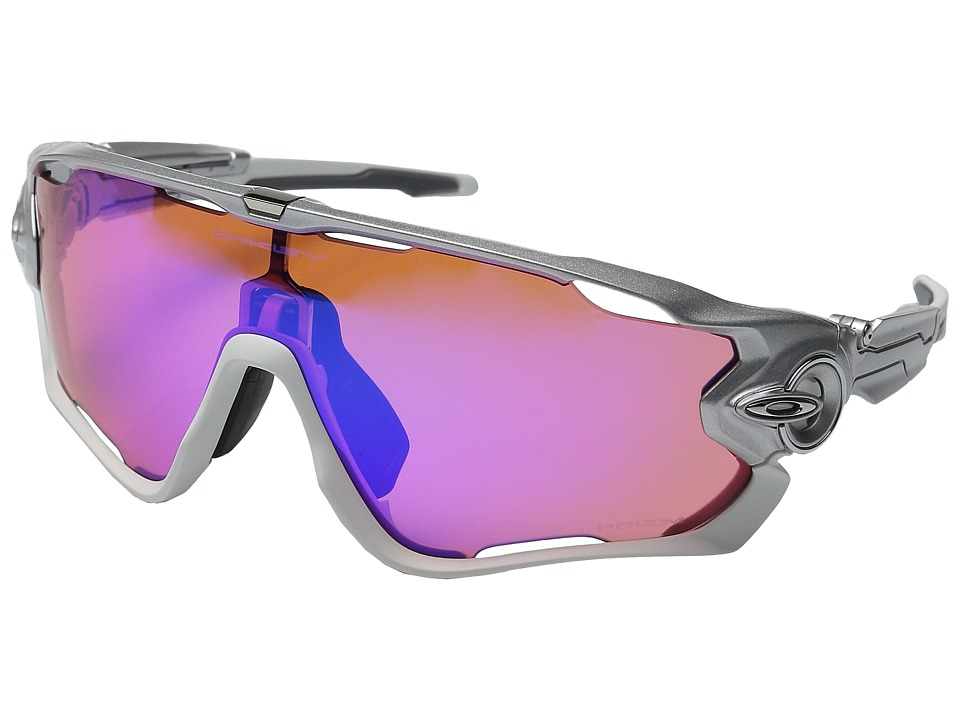 Oakley - (A) Jawbreaker (Sliver/Polished White/Prizm Trail) Sport Sunglasses