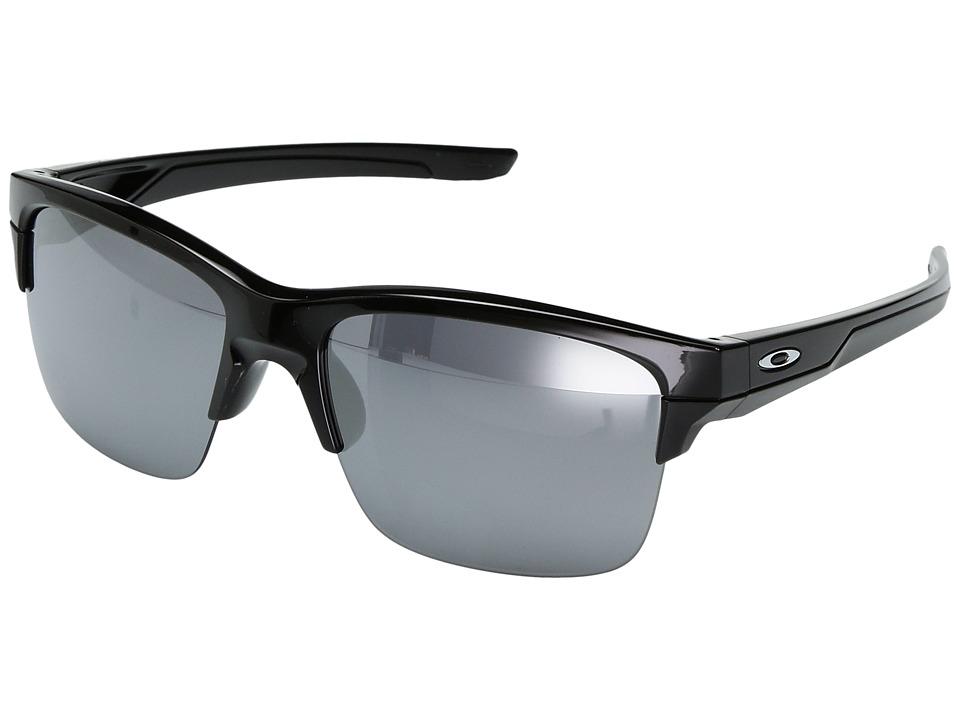 Oakley - (A) Thinlink (Polished Black/Black Iridium Polar) Plastic Frame Fashion Sunglasses