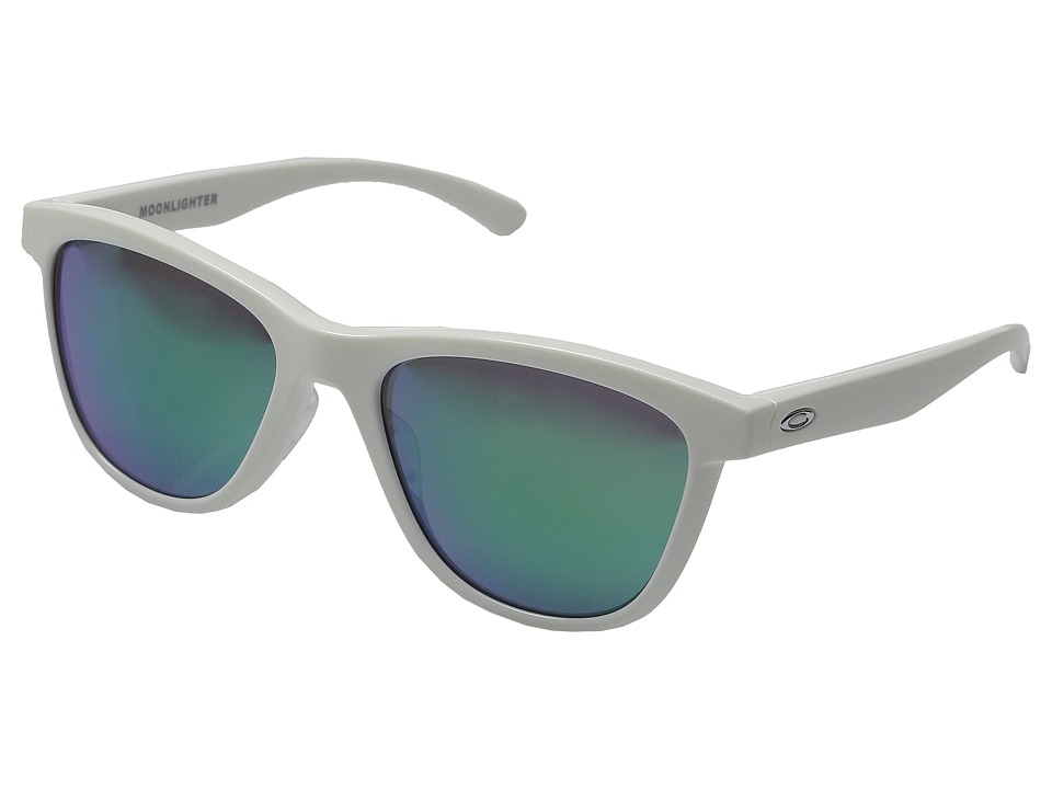 Oakley - Moonlighter (Polished White/Jade Iridium Polarized) Plastic Frame Fashion Sunglasses
