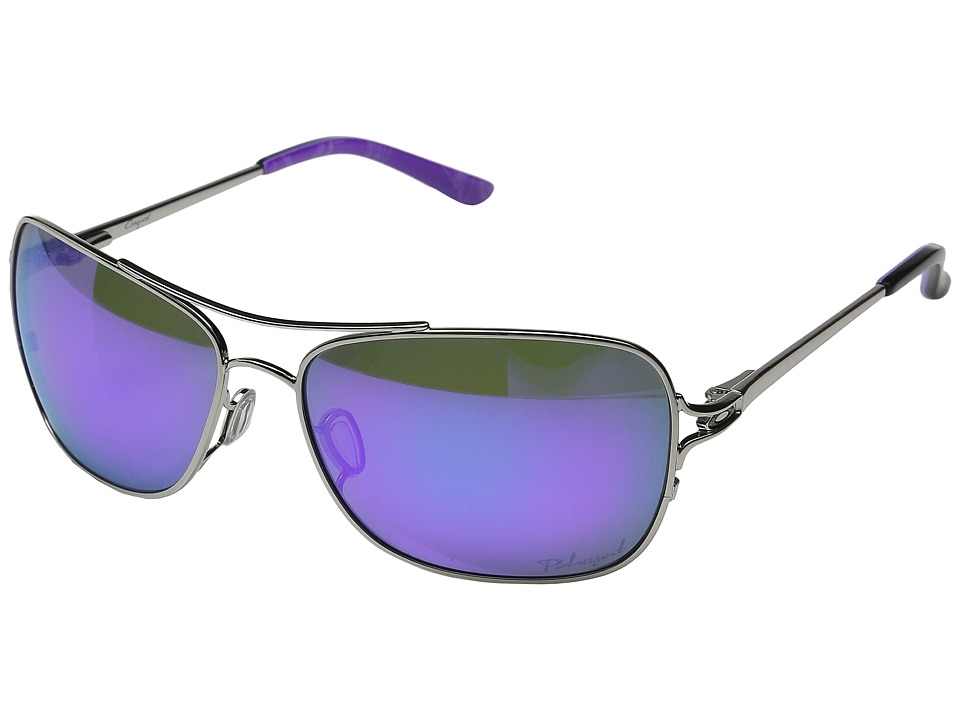 Oakley - Conquest (Polished Chrome/Violet Haze/Violet Iridium Polarized) Sport Sunglasses