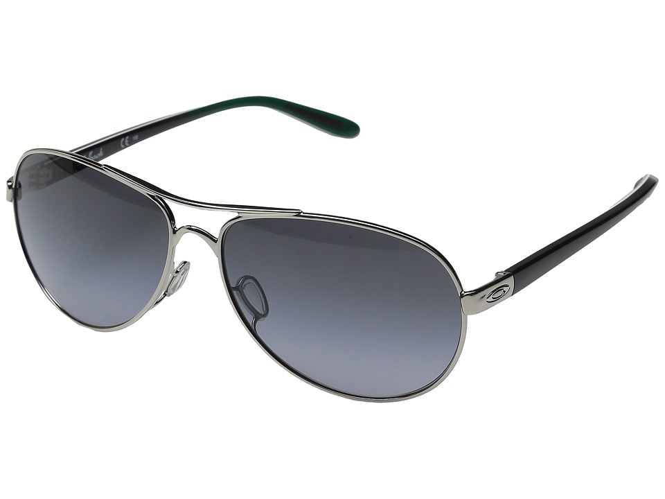 Oakley - Feedback (Polished Chrome/Gemstone Fade/Black Grey Gradient) Sport Sunglasses